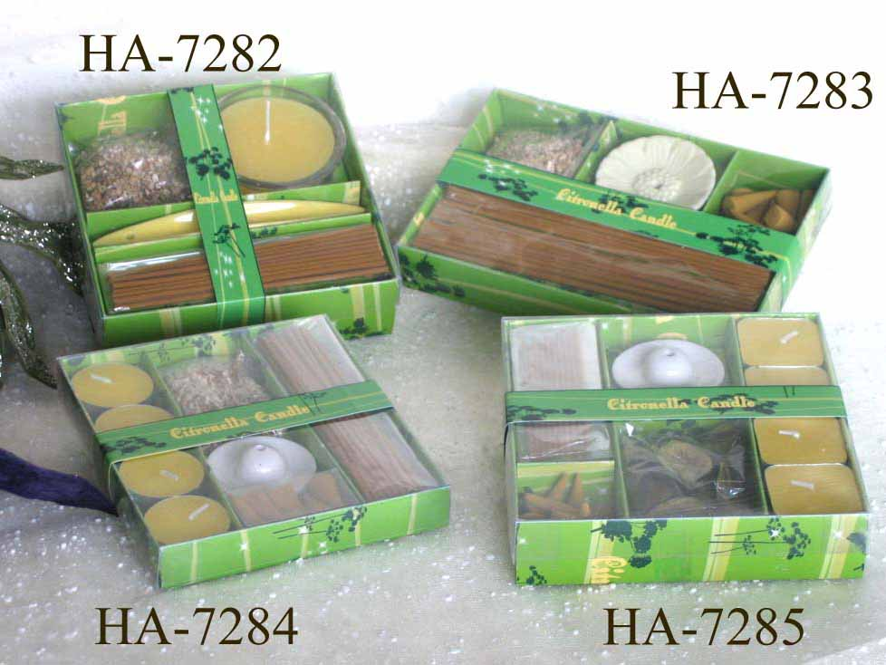 Citronella candles with holder set