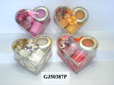 Scented candles set with different holders