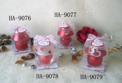 Scented candle filled in lamp holder set