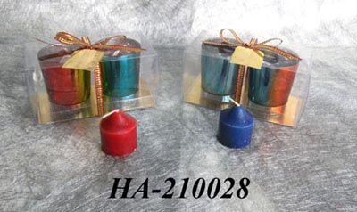 Scented candles with glass holders set